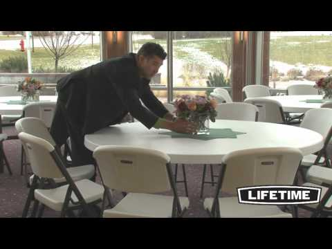 Lifetime 72'' Round Folding Table (Model 22673)