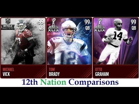 Madden Mobile | Vick vs. Brady vs. Graham