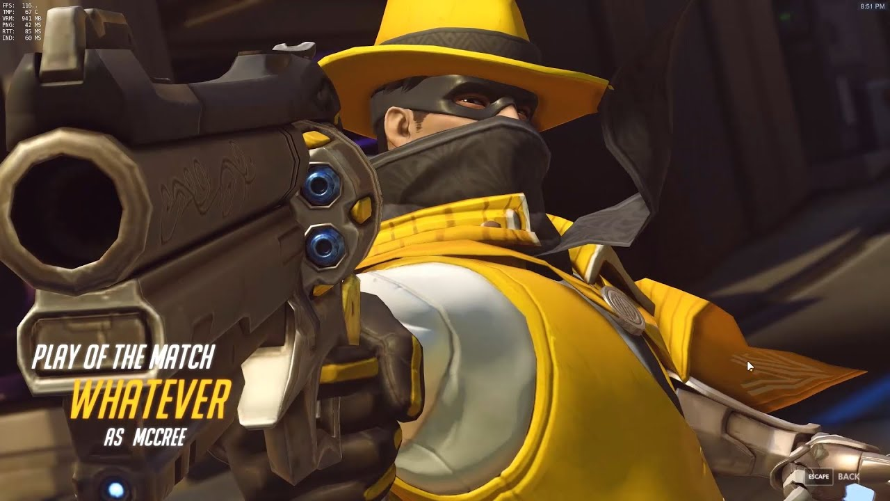 Overwatch - WHATEVER as Mccree Kill Montage #2