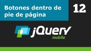 jQuery Mobile - Parte 12 - Botones dentro del pie de página