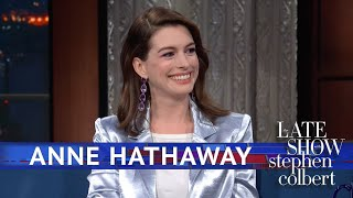 """'The Hustle' star Anne Hathaway gets to tell RuPaul the important life lesson that she learned from RuPaul. Subscribe To """"The Late Show"""" Channel HERE: ..."""