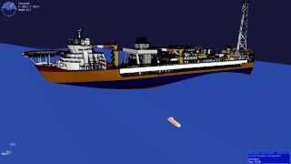 Free Fall Lifeboat Simulation