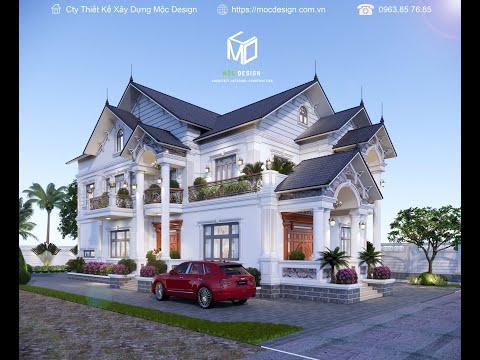 Thiết Kế Biệt Thự Mái Thái Đẹp, Sang Trọng, Sân Vườn Cá Koi/ Mộc Design