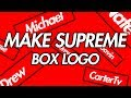 How to make your own SUPREME Logo | Clothes + Design Process