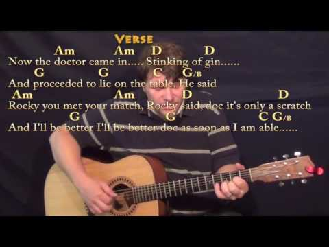 Rocky Raccoon (The Beatles) Fingerstyle Guitar Cover Lesson with Chords/Lyrics