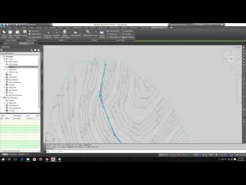 How to create road alignment using - AutoCAD Civil 3D 2017