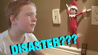 🎄🎅🏼 Elf on the Shelf DISASTER!  🎅🏼🎄 vlog e141  Shelf Elf Year #1!