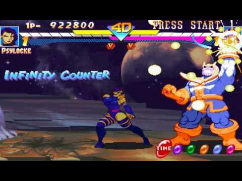 Marvel Super Heroes (US 951024) Psylocke FInal Battle + Ending