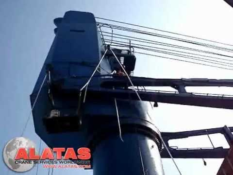 Tsuji ship crane repairs carried out by Alatas crane services worldwide