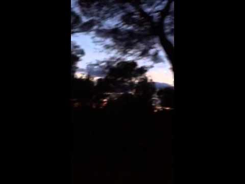 La Provence, France - farm & sunset at night