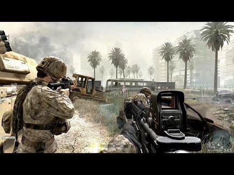 US Marine Corps in Heavy City Combat ! Call of Duty 4 Modern Warfare 1