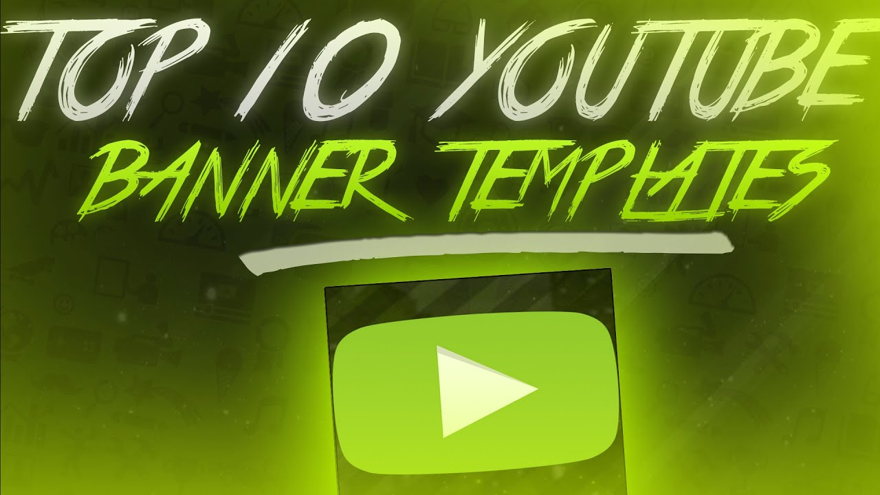 top 10 youtube banner templates part 1 awesome banners youtube