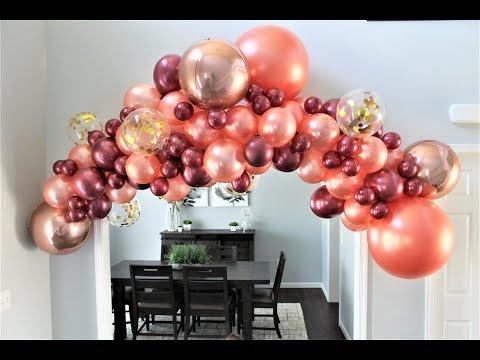 Rose Gold Balloon Garland DIY | How To
