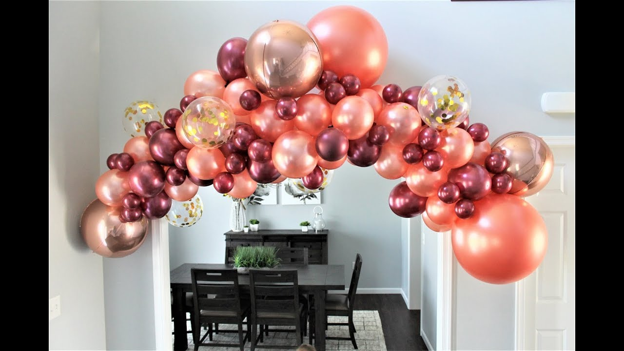 Rose Gold Balloon Garland Diy How To Youtube