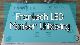 Frontech LED Monitor With HDMI and VGA Ports and Wall Mounting Options-Unboxing and Installation