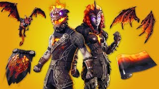 LAVA LEGENDS Skin Bundle in Fortnite Battle Royale! (NEUE Fortnite Skins!)