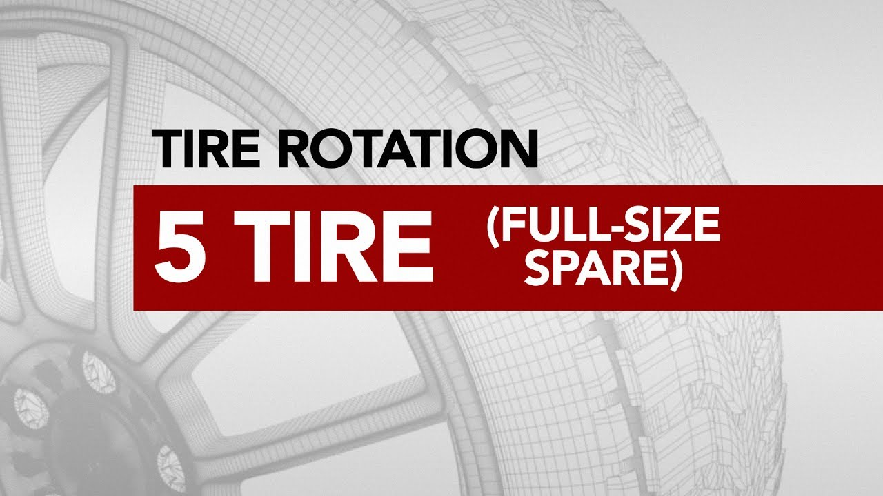 Tire Rotation With Spare >> Tire Rotation - 5 Tire (Full Size Spare) | Americas Tire - YouTube