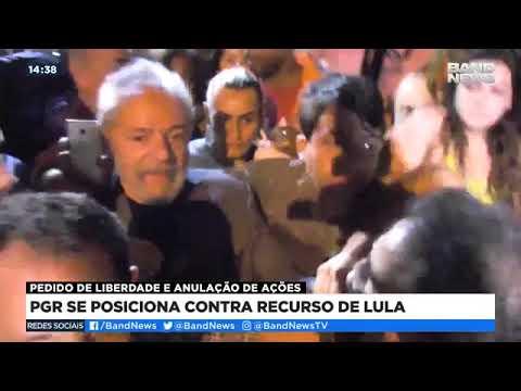 PGR se posiciona contra recurso de Lula