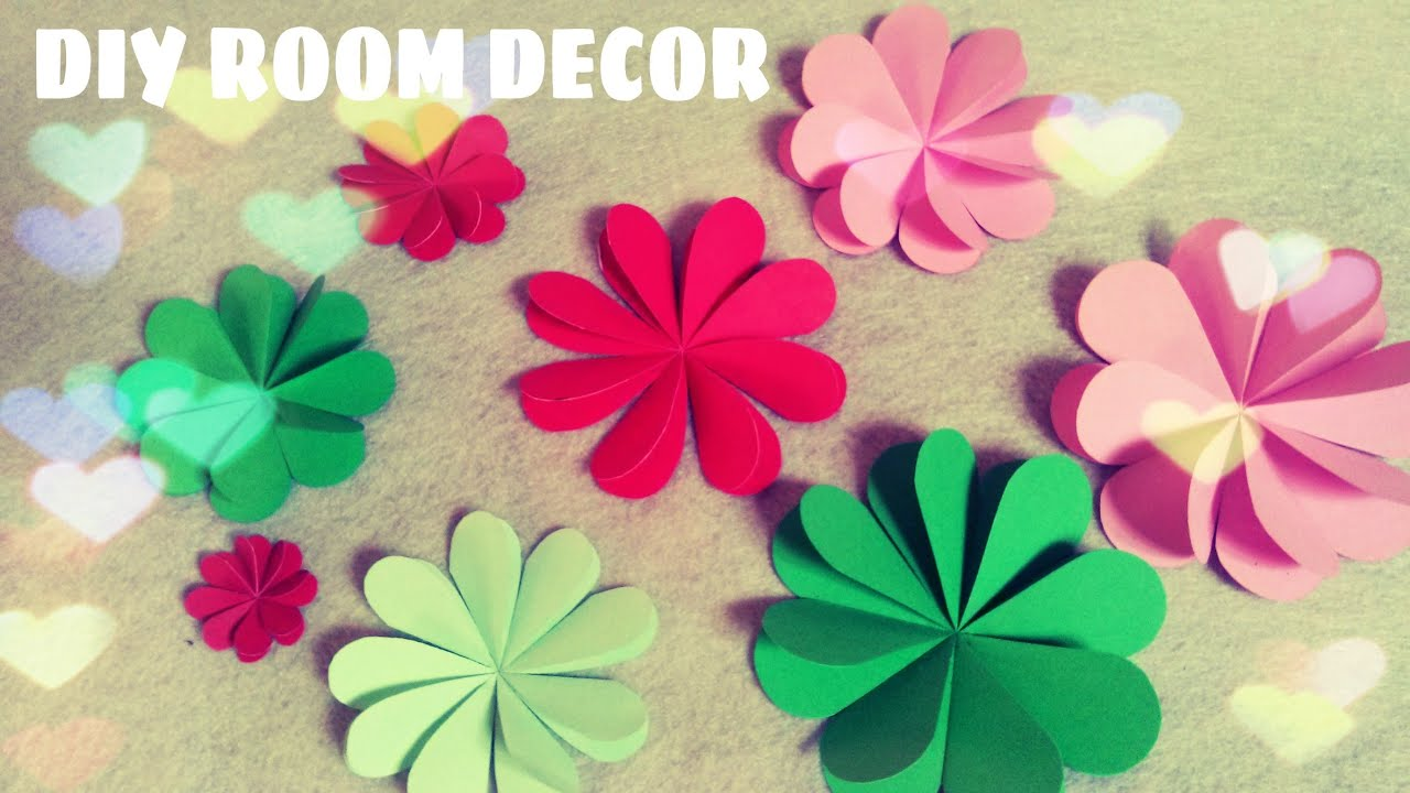 Easy diy paper flower demirediffusion paper flowers tutorial origami easy youtube mightylinksfo