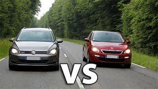 Comparatif Peugeot 308 sw VS Golf 7 SW Design, Prix, moteurs | AUTOREDUC TV