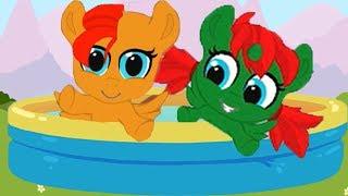 Карманная пони.Играем с пони.Строим детскую комнату.Май литл пони.