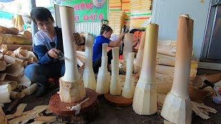 Cơ sở chế biến Củ hủ Dừa khổng lồ ở Bến Tre | Củ hủ Dừa