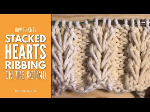 Knitting Heart Ribbing In the Round