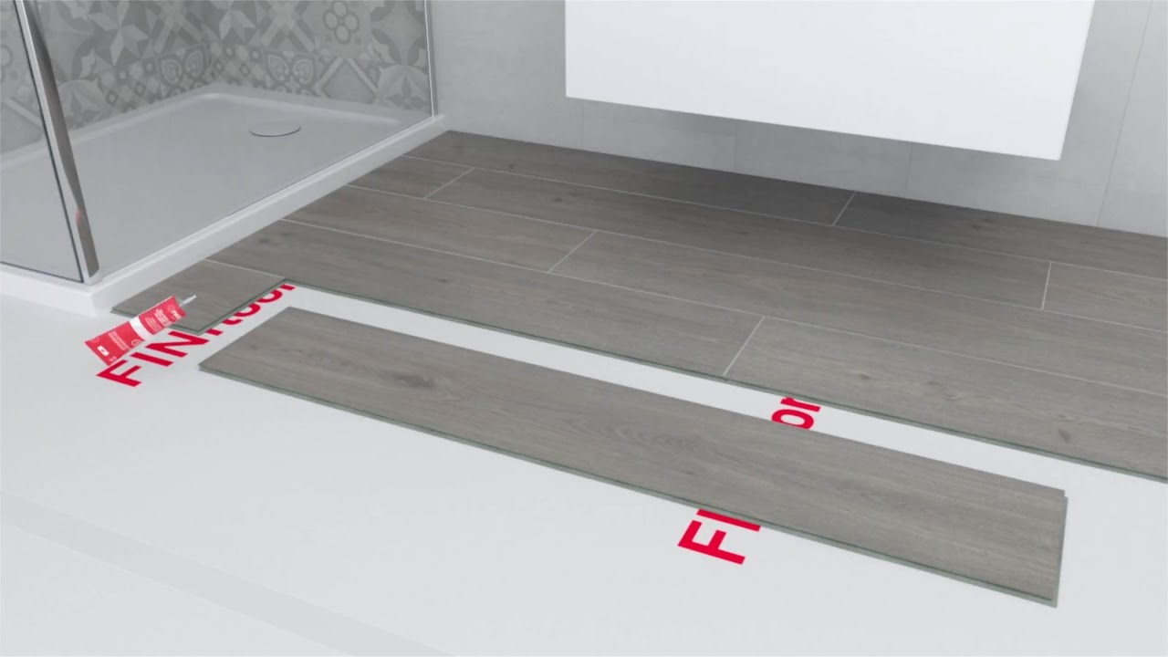 Como instalar suelo laminado en ba os y cocinas youtube for Grey bathroom laminate flooring