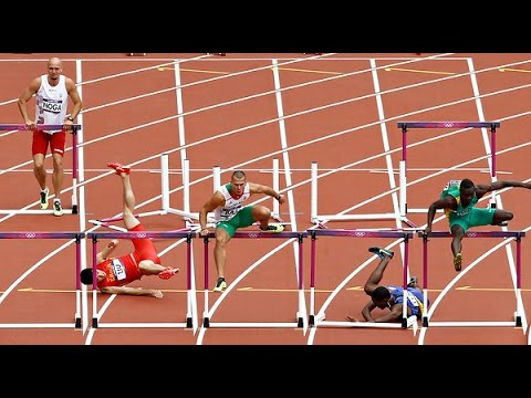 London 2012 Olympics: Liu Xiang falls in 110m hurdles | Daily Mail ...