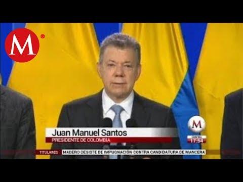 Juan Manuel Santos anuncia reanudación de diálogos de paz con el ELN