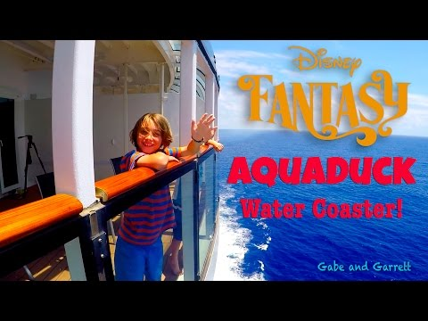 Disney Fantasy Cruise Ship To Caribbean - Aquaduck Water Slide