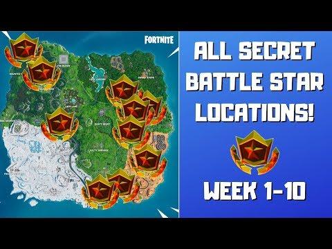 All Fortnite Season 9 Secret Battle Stars Locations (Week 1-10)! - Utopia Challenges Season 9