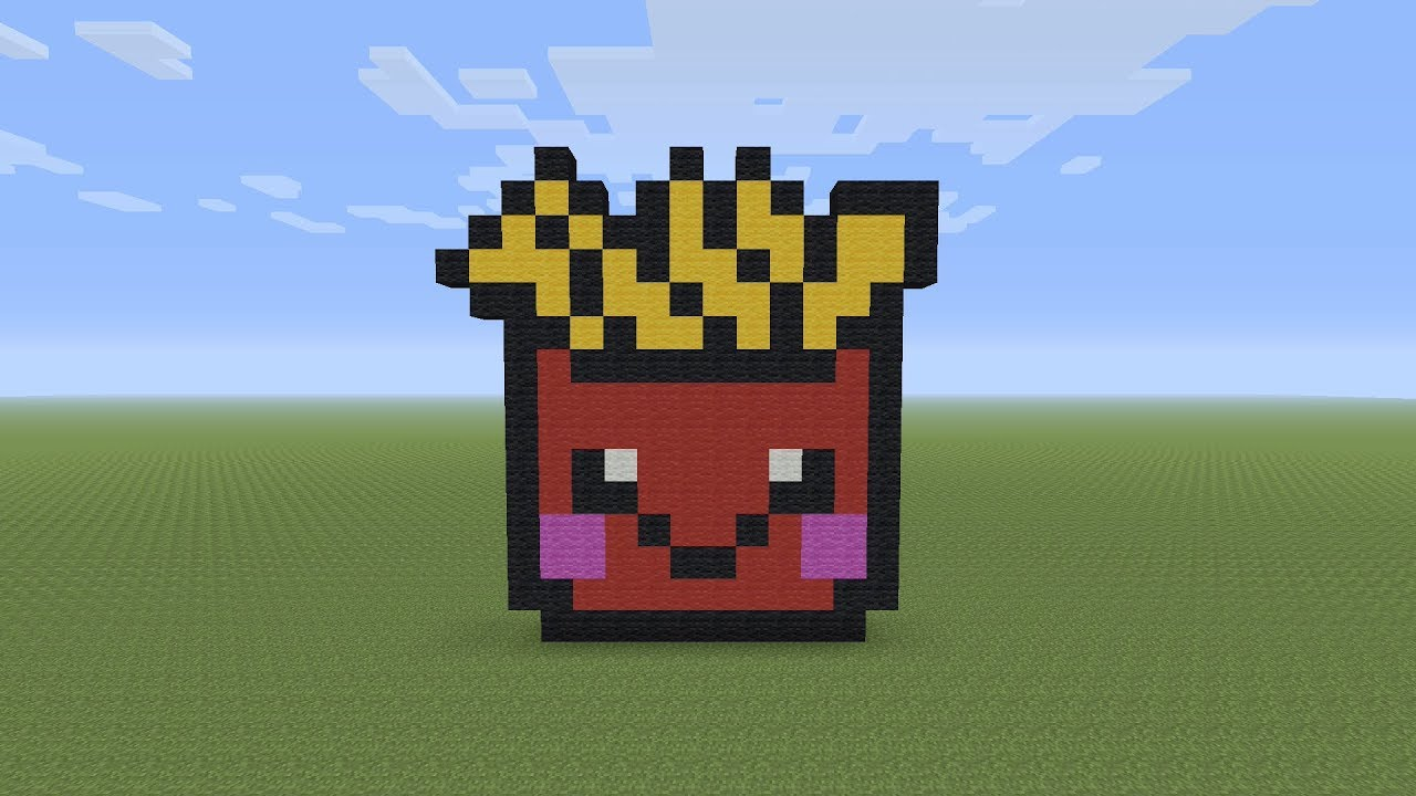 Minecraft Pixel Art Kawaii French Fries