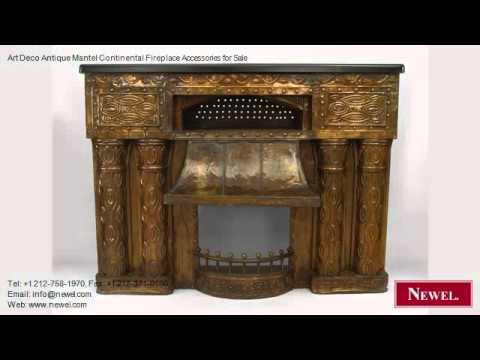 Art Deco Antique Mantel Continental Fireplace Accessories
