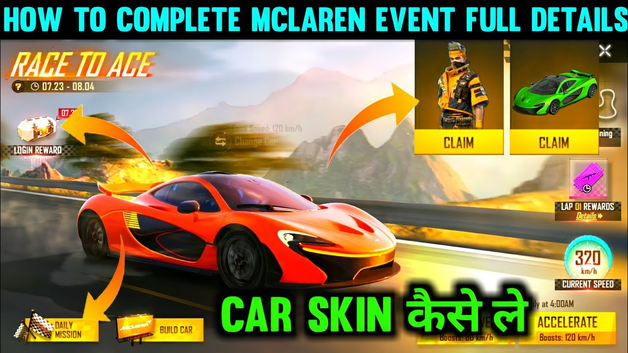 HOW TO COMPLETE MCLAREN EVENT IN FREE FIRE | MCLAREN EVENT KAISE COMPLETE KARE