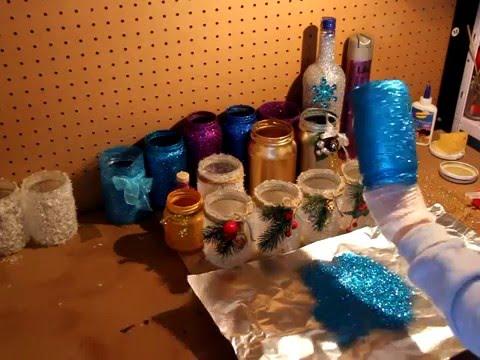 Декорация стеклянных баночек.
