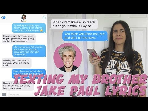 TEXTING MY BROTHER JAKE PAUL