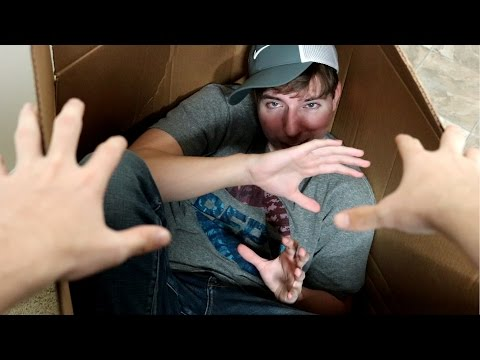 I Mailed Myself IN A BOX & it REALLY WORKED! (Human Mail Challenge)