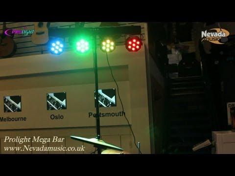 Mega Bar LED Compact Stage Lighting System Demo @ Nevada Music UK