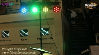 Mega Bar LED Compact Stage Lighting System Demo @ Nevada Music UK