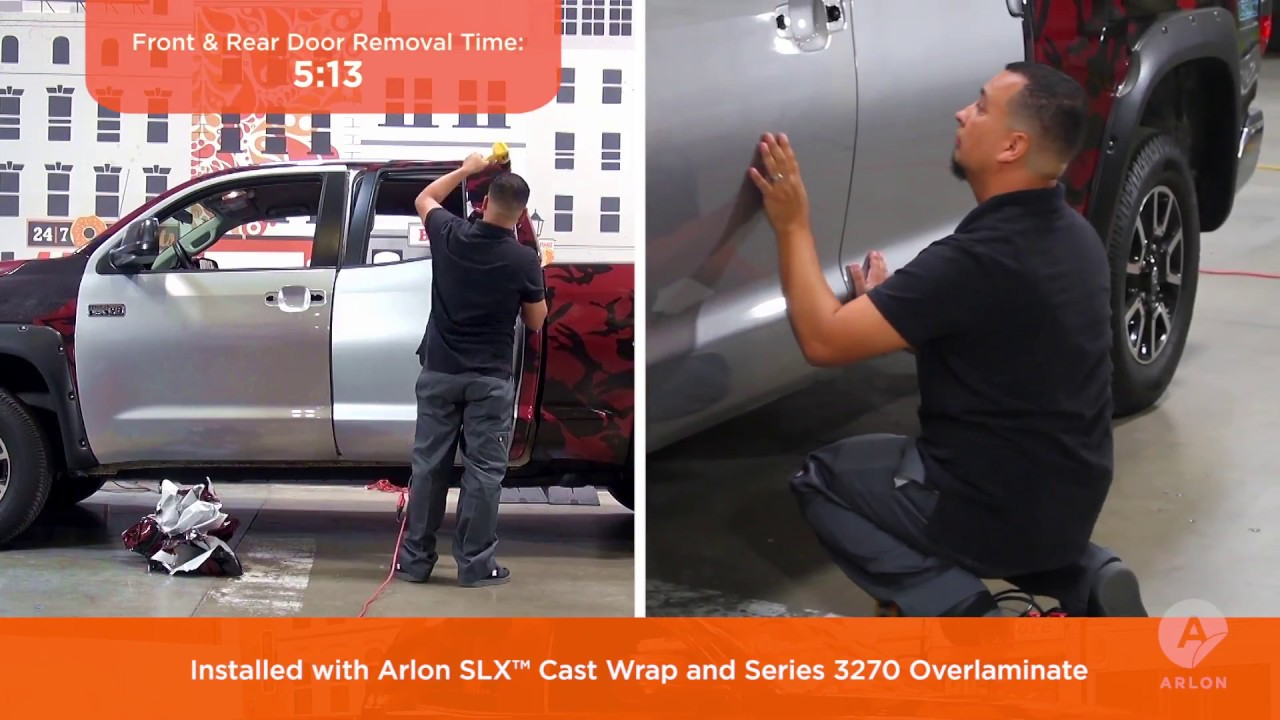 Will SLX™ Cast Wrap Remove Quicker than the Leading Competitor Cast Vinyl Film?