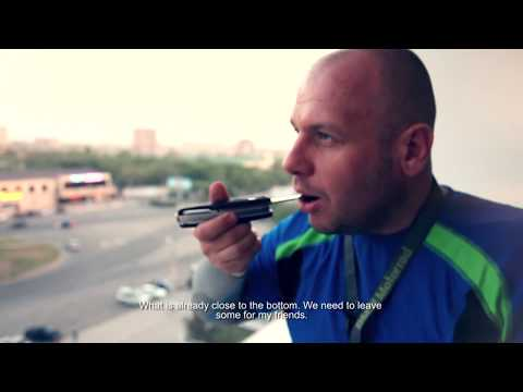 Central Asia. Motorcycle journey indoor extreme. English subtitles.