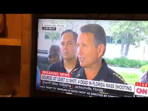 The Madden Tournament Mass Shooting At Jacksonville Landing Press Conference