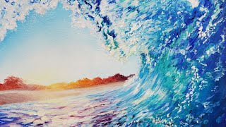 Ocean Wave Acrylic Painting LIVE Tutorial