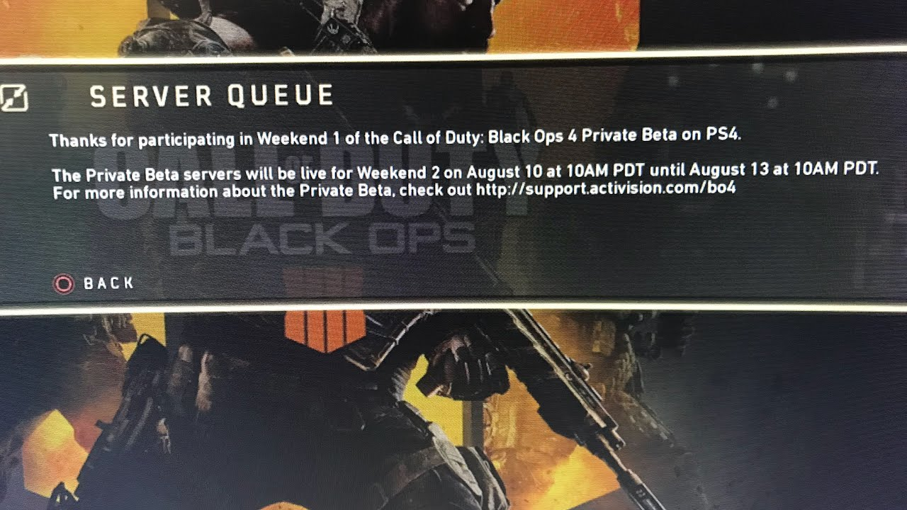 black ops 4 servers down