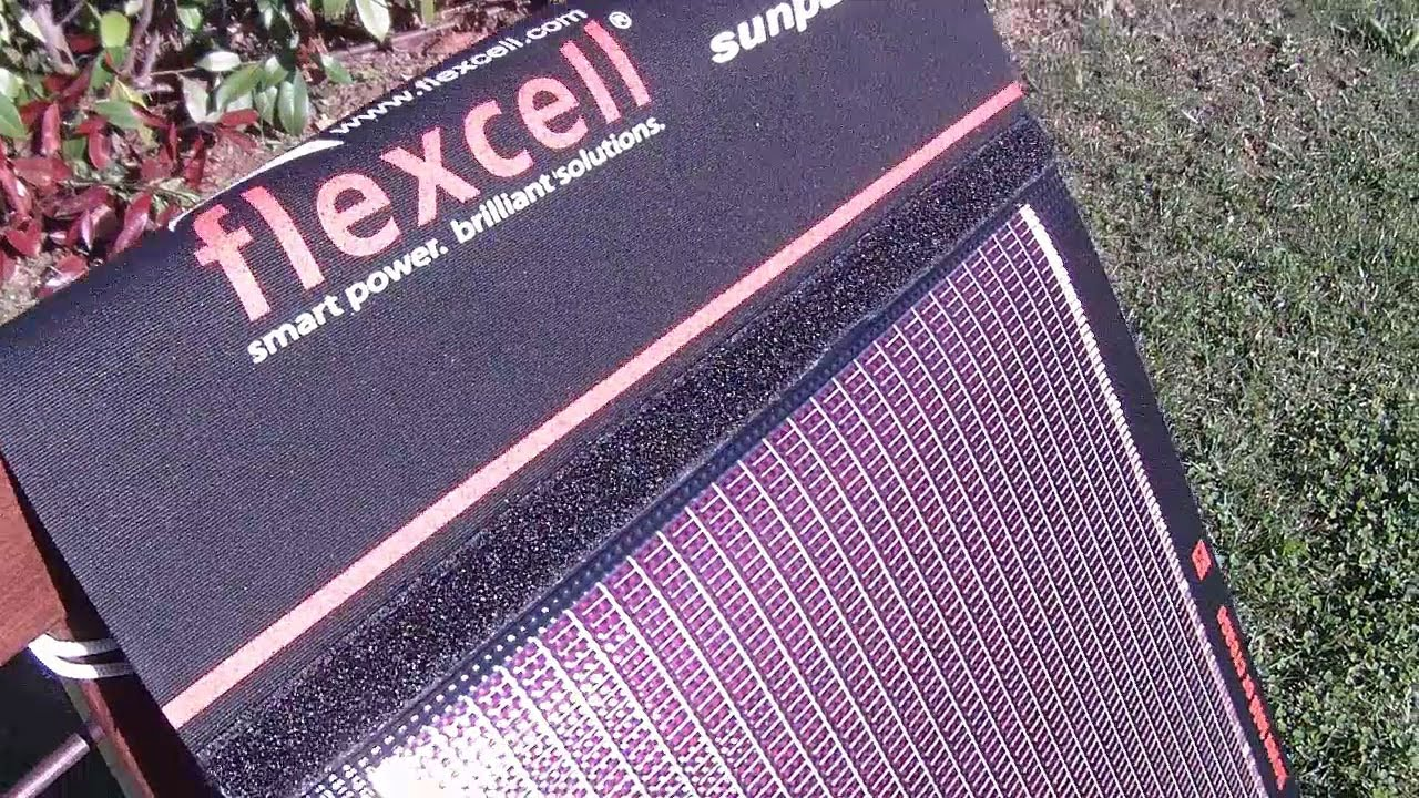 Unboxing Flexcell Solar Panel For Hiking Amp Trekking Recharges Nexus 7 Youtube