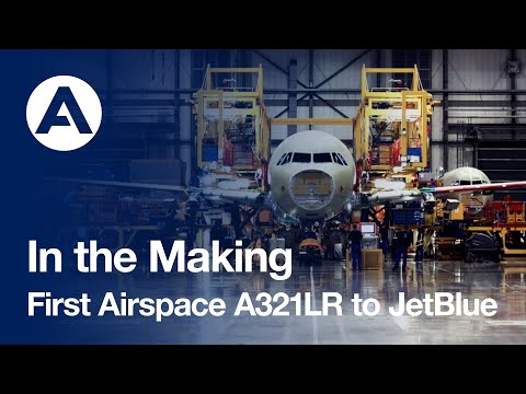 JetBlue takes delivery of the first A321LR with an Airspace cabin