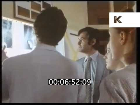 1980s UK Hospital, Doctors and Nurses Look at X Ray