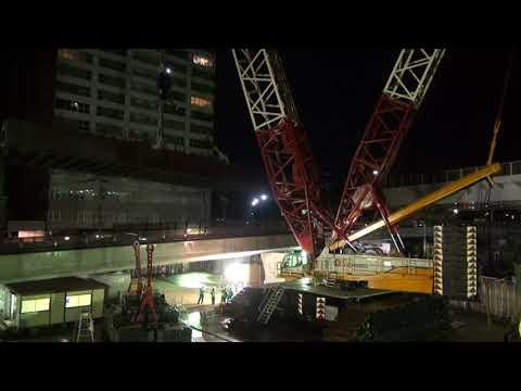 内宮運輸機工 DEMAG CC6800 仙台市X橋 床版一括撤去作業