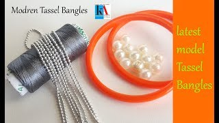 DIY || How to make Silk Thread Designer Bangles || Tassel Designer Bangles at home